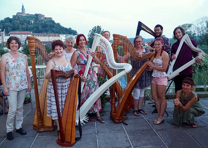 Outlyre, Harp, Festival, harpists, international, Calvin Arsenia, Sabine James, Severine Vidal, music, Austria, Gussing