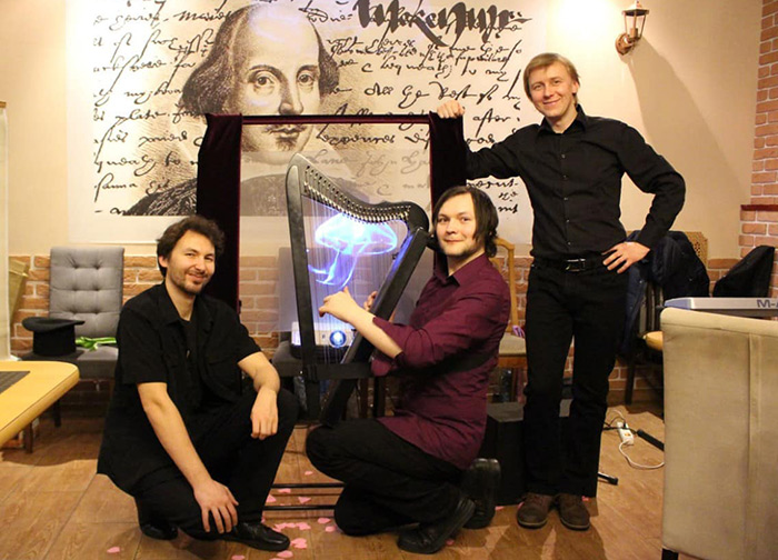 Visual music, hologram, harp, Harpsicle, holography
